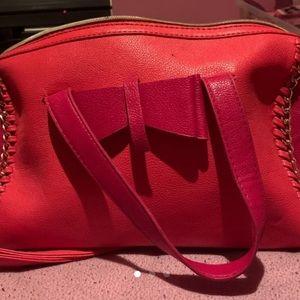 Orange and Pink Betsey Johnson Purse